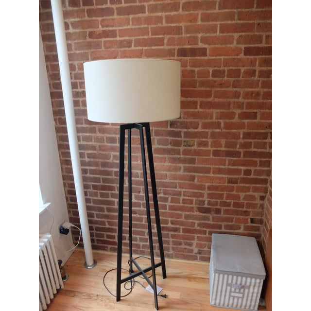Crate & Barrel Castillo Black Floor Lamp - Image 2 of 3