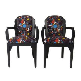 Art Deco Arm Chairs - Pair