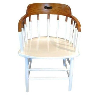Windsor Spindle Back Chair 2-Tone Natural & White