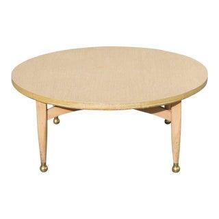 Danish Modern Gold Foot Coffee Table