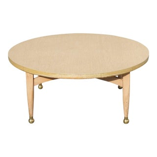 Danish Modern Gold Foot Coffee Table