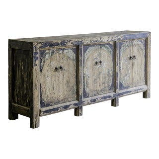 Antique Chinese Six Door Painted Buffet, Kuang Hsu Period circa 1875