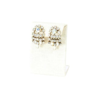 60's Fringe Rhinestone Earrings