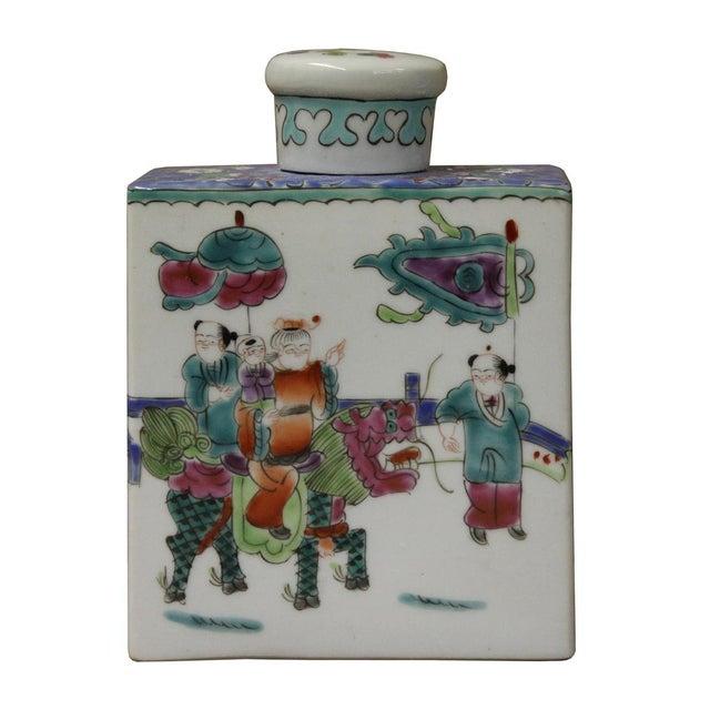 Chinese Colorful Porcelain Tea Jar - Image 5 of 6