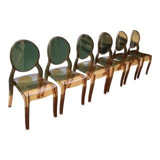 Four Hands Amber Ghost Chairs- Set of 6