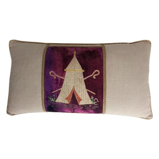 "Masonic ""Tent"" Embroidered Pillow"