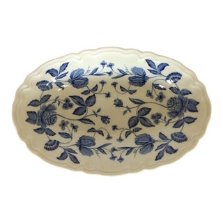Haviland Limoges Blue & White Oval Dish