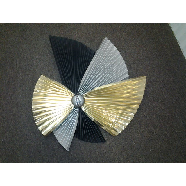 Signed Jere Wall Sculpture in Silver and Gold - Image 3 of 7