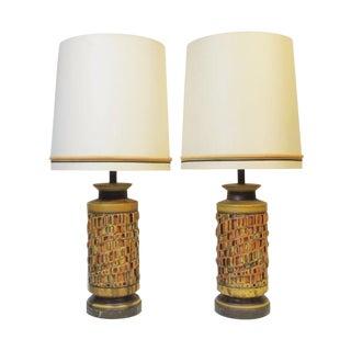 Vintage 1960s Ceramic Table Lamp - A Pair