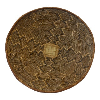 African Charger Basket, 1950s