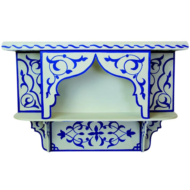 Bleu Majorelle on White Wall Shelf - Image 1 of 3