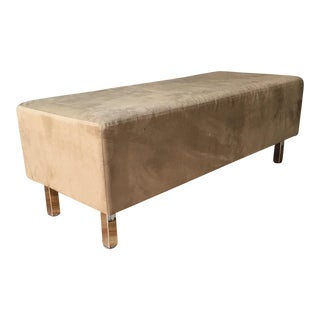 Crate & Barrel Upholstered Ottoman