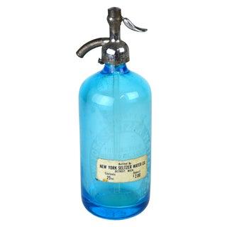 Vintage New York Blue Seltzer Bottle