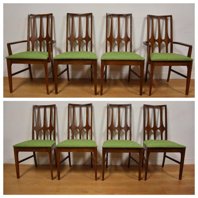 Broyhill Brasilia Walnut Dining Chairs - Set of 8 - Image 2 of 11