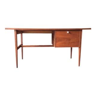 Mid-Century Modern Drexel Declaration Refinished Walnut Floating Top Desk