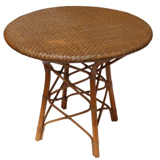 Balinese Round Rattan Center Table