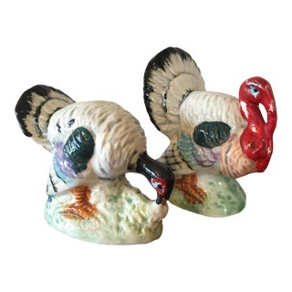 Thanksgiving Turkey Salt & Pepper Shakers - A Pair