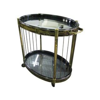 Bernhard Rohne for Mastercraft Brass Oval Bar Cart