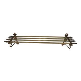 Vintage Brass Railway Luggage Rack or Shelf