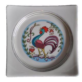 Vintage 1950's Hyalyn Rooster Dish