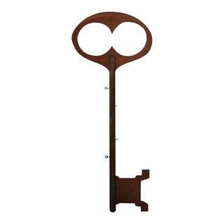 Monumental Mid-20th Century Folk Art Wooden 'Key' Trade Sign