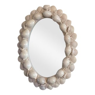Oval Seashell Mirror