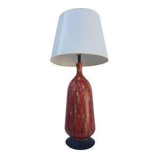 Fabulous Vintage Tall Colorful Glaze Table Lamp .