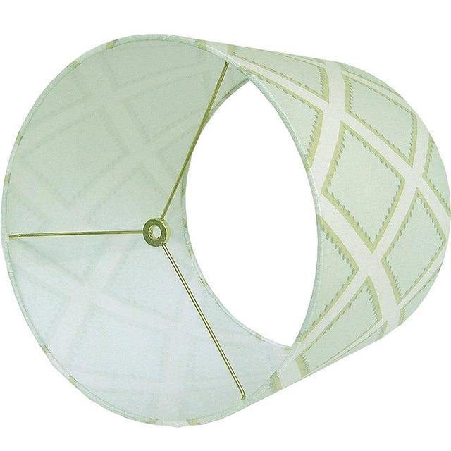 Kravet Celadon Brookhaven Fabric Drum Lamp Shade - Image 2 of 3
