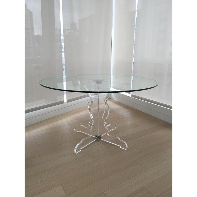 Roche bobois profil round dining table chairish - La roche bobois table ...