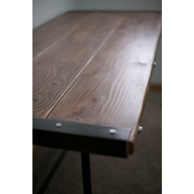 Solid Wood Industrial Desk - Image 5 of 8