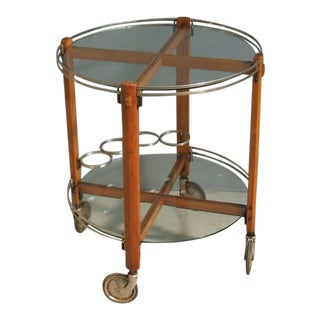 1960's Ico Parisi Style Round Bar Cart