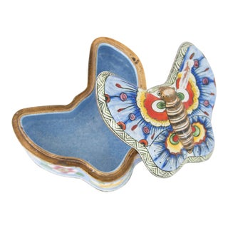 Chinese Enamel Butterfly Box