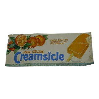 """Vintage """"New Deluxe Creamsicle"""" Advertising Poster"""