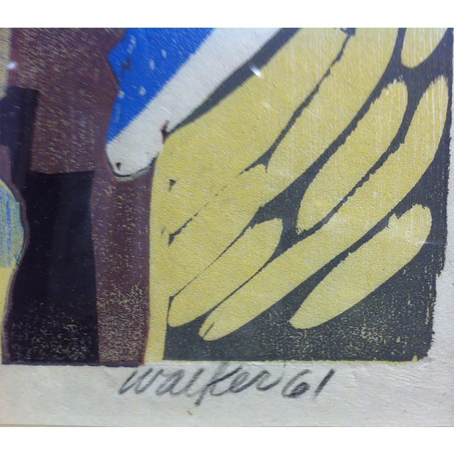 Clay Walker Woodcut Woman in the Mimosa - Image 4 of 4