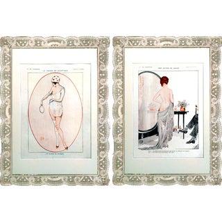 """1917 La Vie Parisienne """"Boudoir"""" Prints - Pair"""