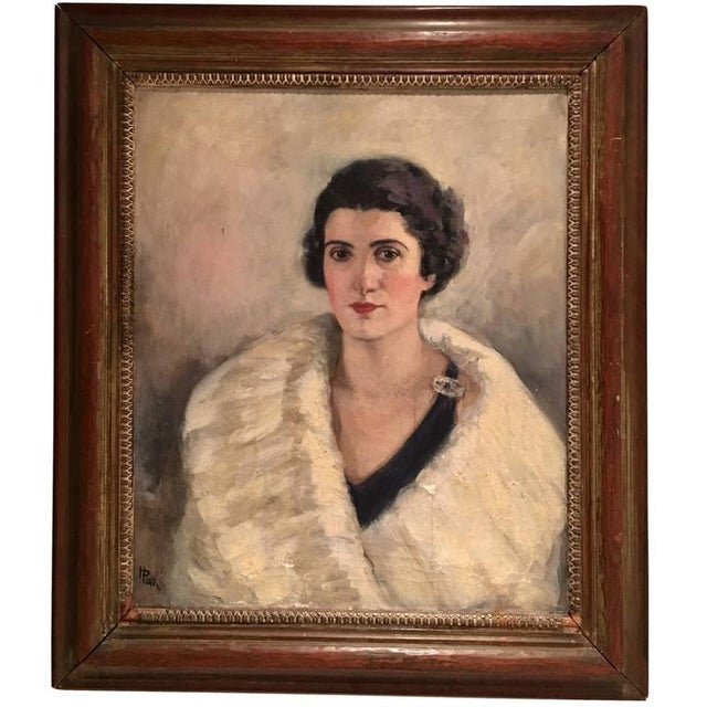 Early 20th Century Original Oil Painting Female Portrait -Framed & Signed By, H. Pink - Image 10 of 10