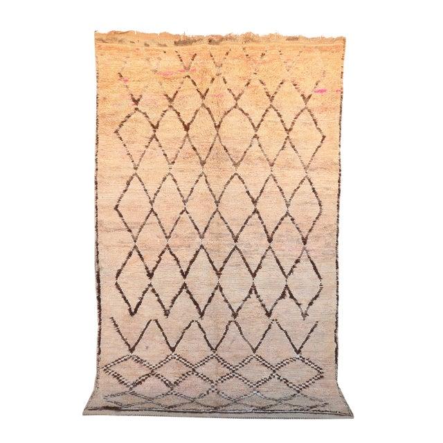 "Vintage Azilal Moroccan Berber Rug - 7'4"" x 11'10"" - Image 1 of 3"