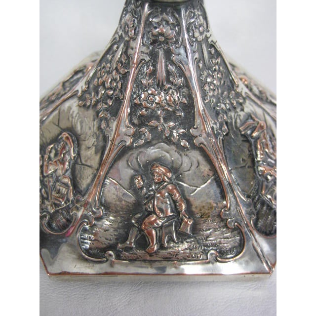 1890s E G Webster & Son Silverplate Trumpet Vase - Image 10 of 11