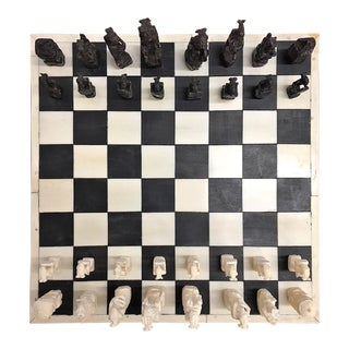 1930 Belgian Congo Ivory Chess Set