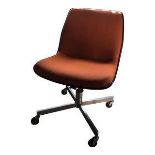 Vintage Mid Century Orange Mod Office Chair