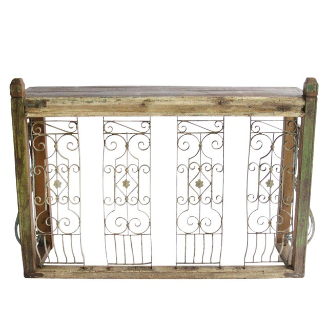 Iron Balcony Console Table - Image 1 of 5