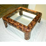 Image of Maitland Smith Tessellated Shell & Brass Table