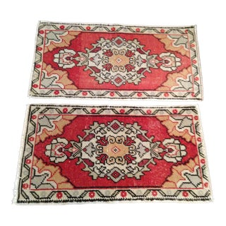 Two Small Vintage Turkish Rugs - 1′7″ × 2′11″