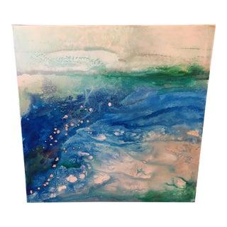 "Ellan Maynard ""SeaChange"" Abstract Painting"