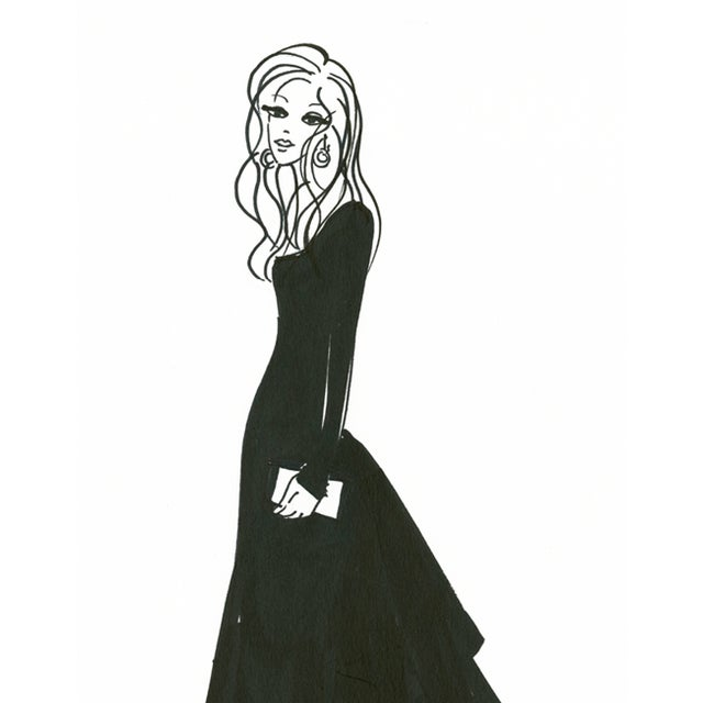 "Daniela Kamiliotis ""Diana"" Fashion Illustration - Image 2 of 3"