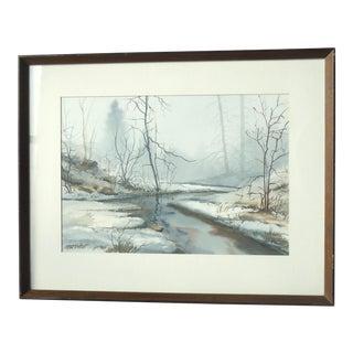 Morrow Winter Landscape Painting
