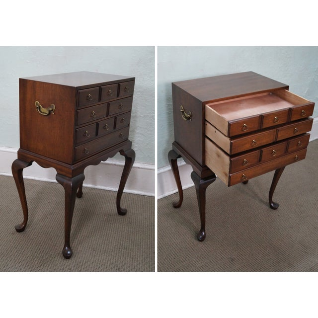 Hickory Chair Mahogany Queen Anne Silver Chest - Image 3 of 10