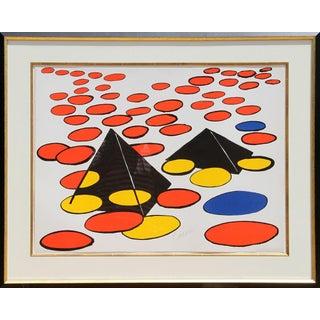 Alexander Calder Black Pyramids Lithograph
