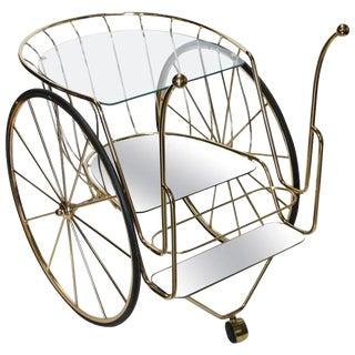 Modern Italian Brass Bar Cart
