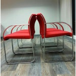 Image of Curvilinear Chrome Chairs - Set of 6